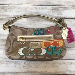 🌺🧡Brand New Sparkly Strap Colorful Coach Bag